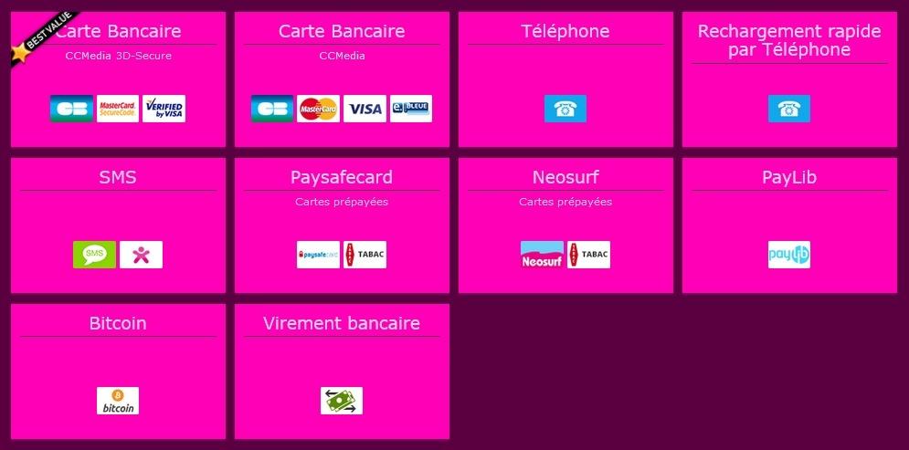 Plusieurs moyens de paiement pour acheter du crédit